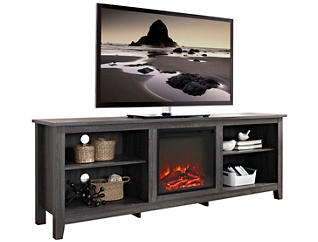 """Dean 70"""" Charcoal Fireplace, , large"""