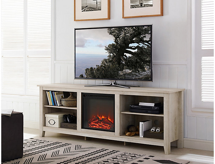 """Dean 70"""" White Fireplace, , large"""