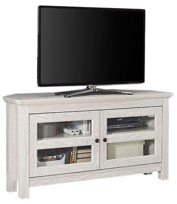 Liam 44 Corner Tv Stand White