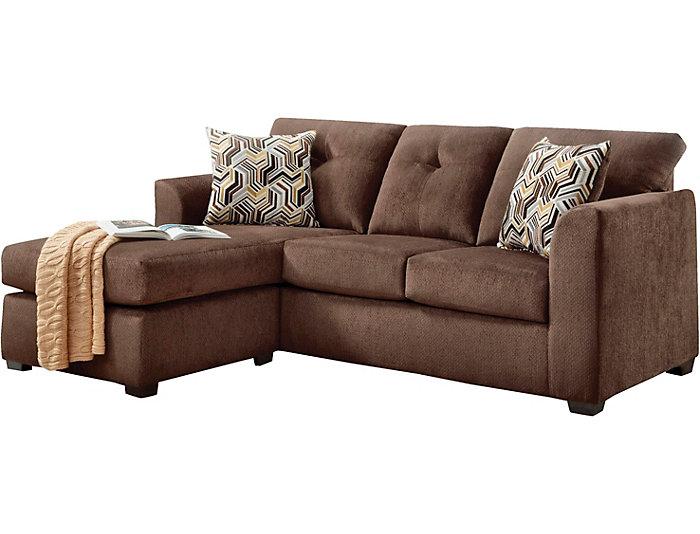 Brilliant Kelly Chocolate Sofa Chaise With Movable Ottoman Inzonedesignstudio Interior Chair Design Inzonedesignstudiocom