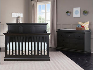 Pine Ridge Black Convertible Crib, , large