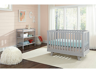 Taylor Fog Changing Table with Pad, Fog, large