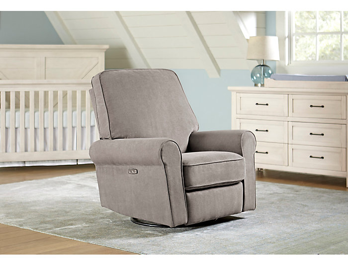 Phenomenal Savanna Platinum Swivel Power Recliner Art Van Home Bralicious Painted Fabric Chair Ideas Braliciousco