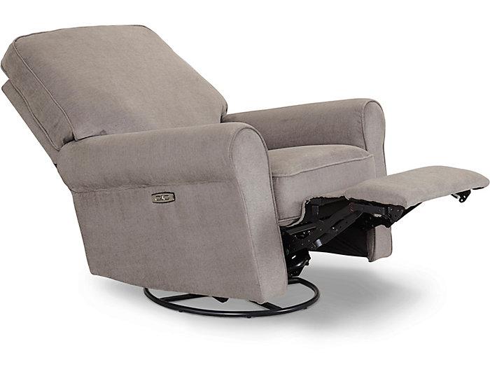 Swell Savanna Platinum Swivel Power Recliner Art Van Home Bralicious Painted Fabric Chair Ideas Braliciousco