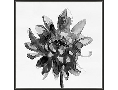 Black and White Floral I, , large