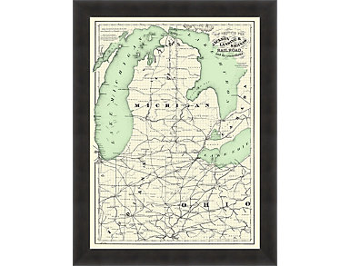 Michigan Map Wall Art, , large