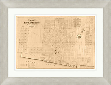 Map of Detroit Wall Art, , large