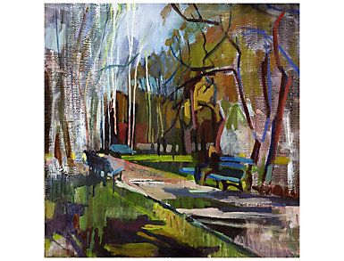 Abstract Park Outdoor Wall Art, , large