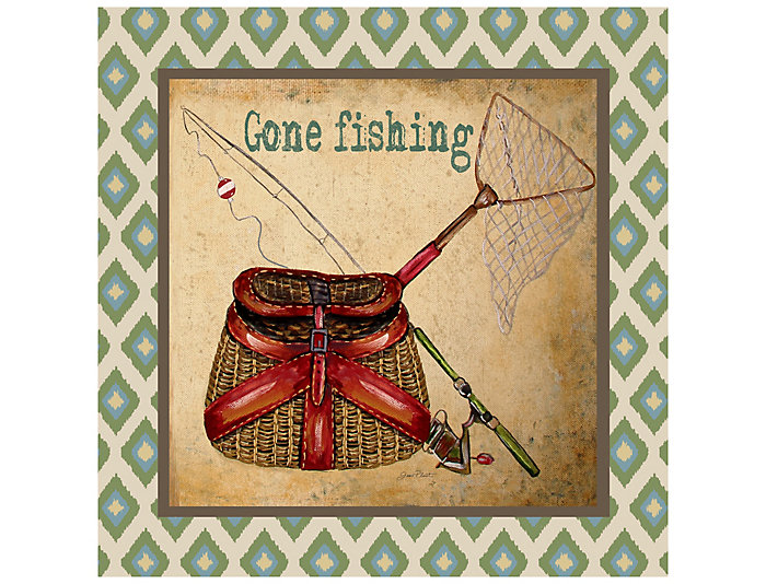 Gone Fishing Outdoor Wall Art, , large
