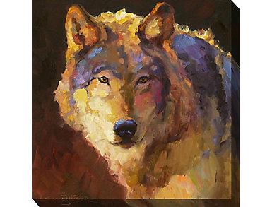 Lone Wolf Outdoor Wall Art, , large