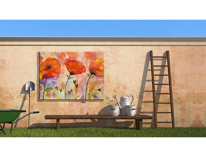 Poppies In Wind Outdoor Art, , large