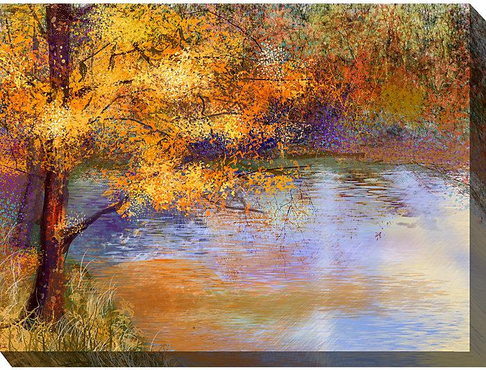 Golden Pond Outdoor Wall Art, , large