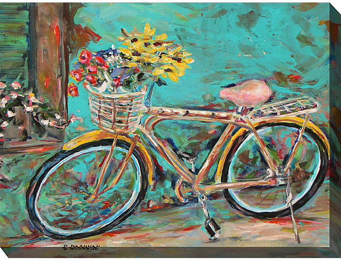 Bike With Flowers Outdoor Art, , large