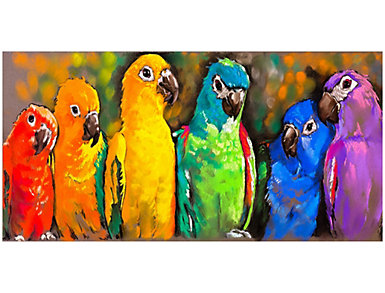 Parrots Outdoor Wall Art, , large