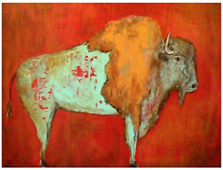Red Buffalo Outdoor Wall Art, , large