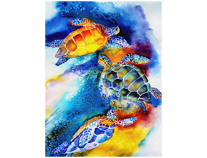 Turtle Play Outdoor Wall Art, , large