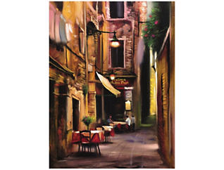 Evening Cafe Outdoor Wall Art, , large