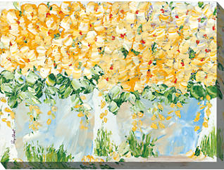 Potted Gold Flower Outdoor Art, , large