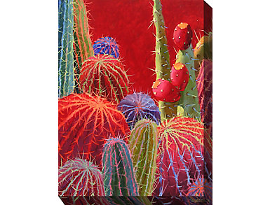 Red Cactus IV Outdoor Art, , large