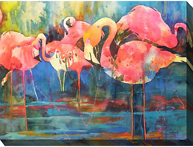 Flamingo Gang Outdoor Wall Art, , large