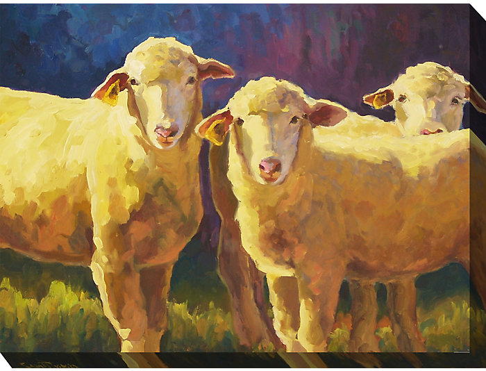 Herd Of Sheep Outdoor Wall Art, , large