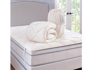 Cotton Mattress Topper-Queen, , large