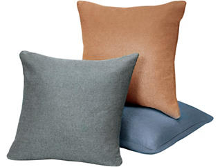 "Carly Blue Linen 20"" x 20"" Pillow, , large"