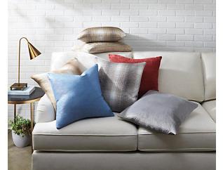 """Francesca Silver Velvet 20"""" x 20"""" Pillow, , large"""