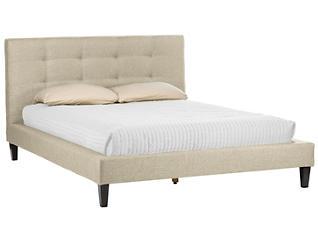 Quincy Light Linen Queen Bed, , large