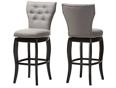 Leonice Grey Barstool Set of 2, , large
