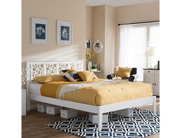 Celine White Full Bed, , large