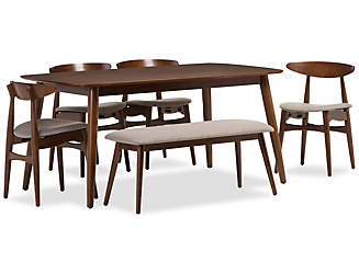 Flora 6 Piece Dining Set