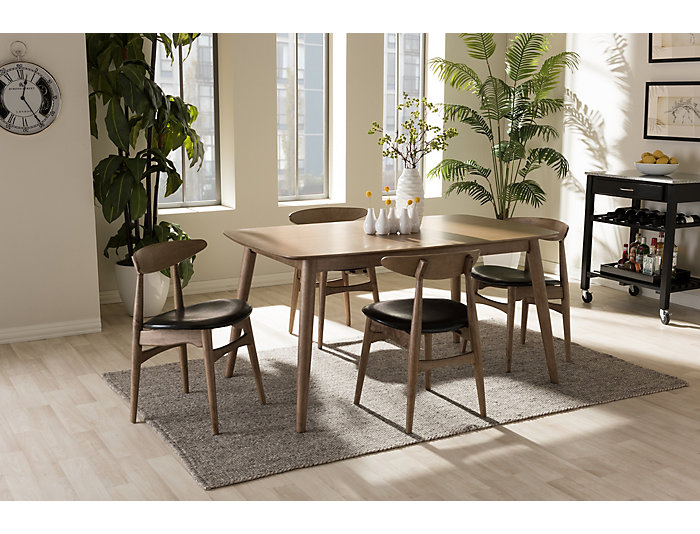 Edna 5-Peice Dining Set, , large