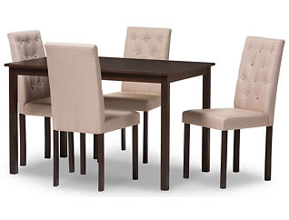 Gardner 5PC Beige Dining Set, , large