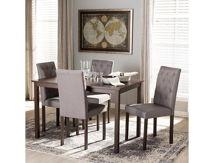 Gardner 5PC Grey Dining Set, , large