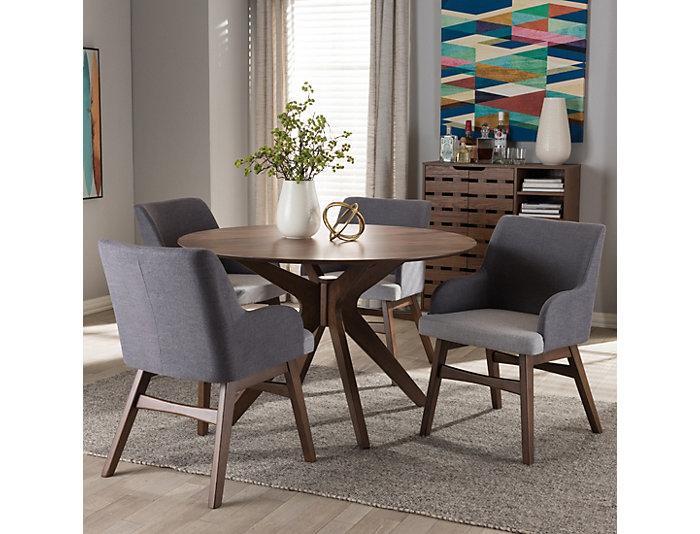 Monte Grey 5PC Dining Set, , large
