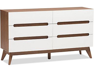 Calypso White Storage Dresser, , large