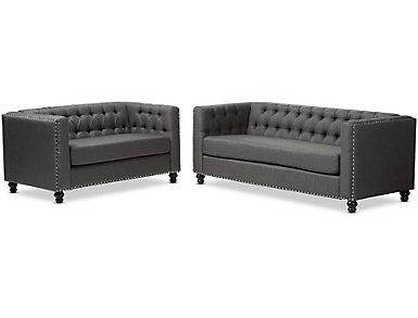 Astoria Grey Sofa & Loveseat, , large