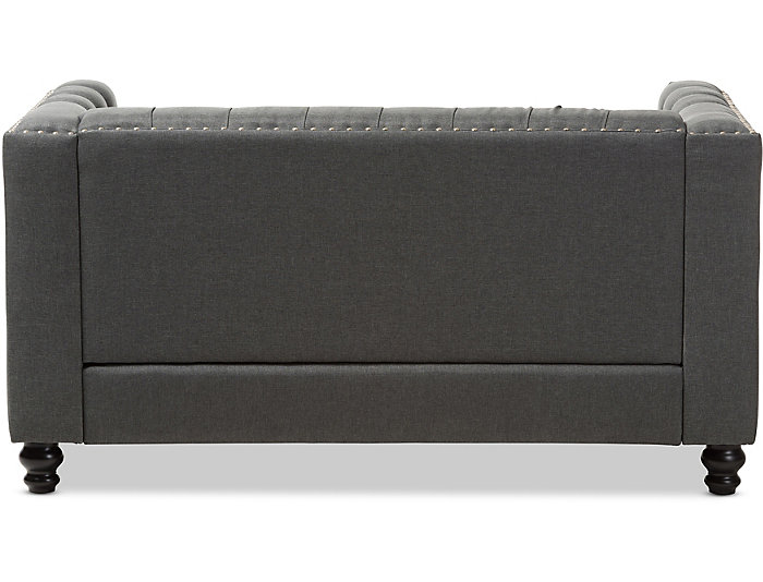 Pleasant Astoria Grey Tufted Loveseat Art Van Home Short Links Chair Design For Home Short Linksinfo