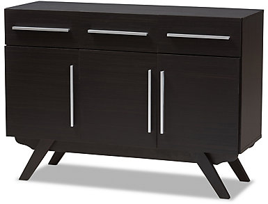 Virgo Espresso Large Sideboard, , large