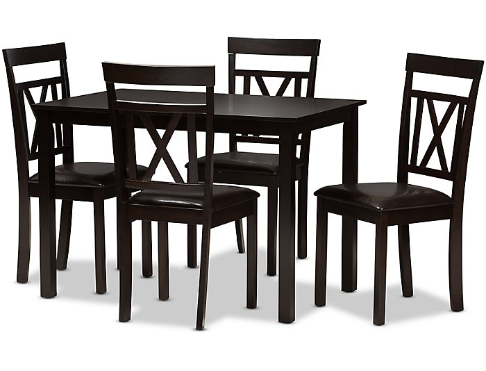 Art Van Dining Room Tables: Sky 5 Piece Dining Table Set