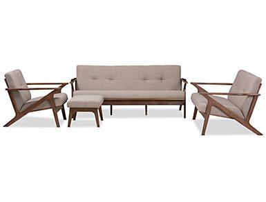 Decker 4 Piece Living Room Set, , large