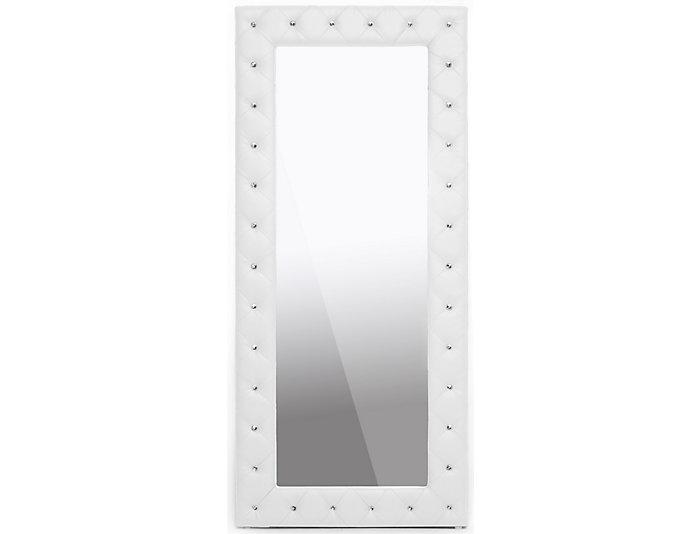 Stella White Floor Mirror, , large