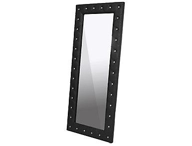 Stella Black Floor Mirror, , large