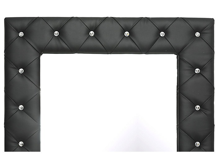 Stella Black Floor Mirror, , large