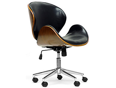 Bruce Black Office Chair, , large