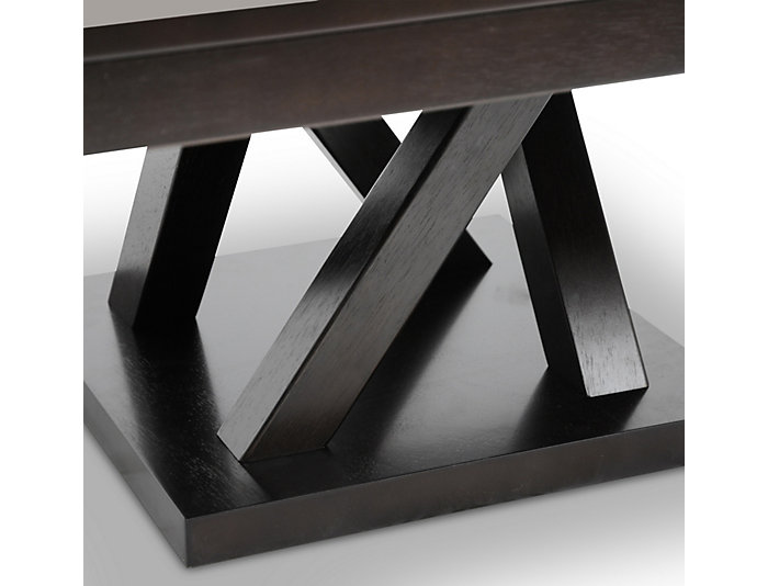Silas Modern Coffee Table, Brown, , large