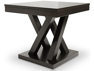 Silas Modern End Table, Brown, , large