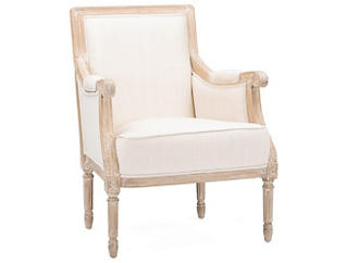 Cannes Linen Accent Chair, , large