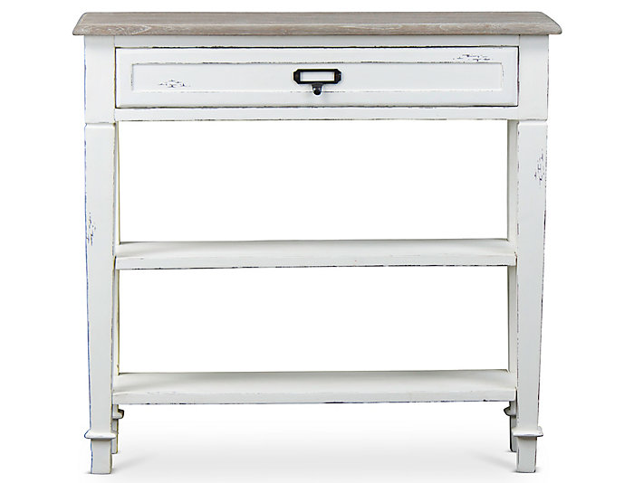 Cannes 1 Drawer Console Table, White, , large